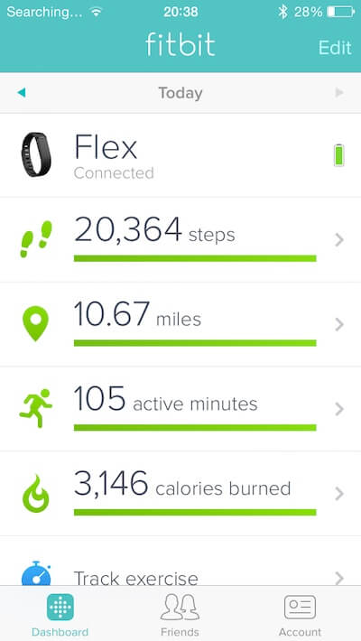 My first day in London fitbit data